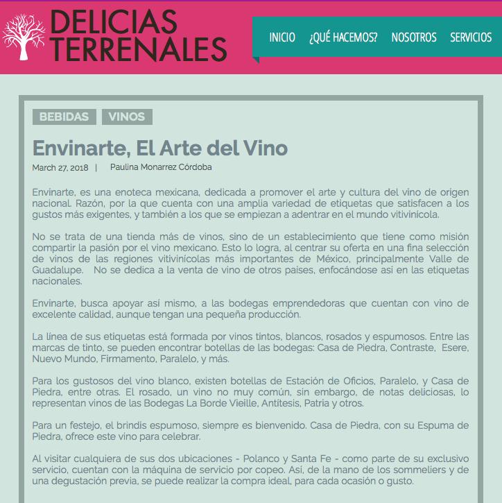 Delicias Terrenales